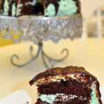 Rich cholate cake and refreshing mint frosting combine to make the most outrageous Chocolate Cake with Mint Chocolate Chip Frosting.