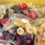 With a little time, you can prep 8 DIY smoothie packs for future use. Just dump and blend for a perfectly delicious and nutritious breakfast or snack.