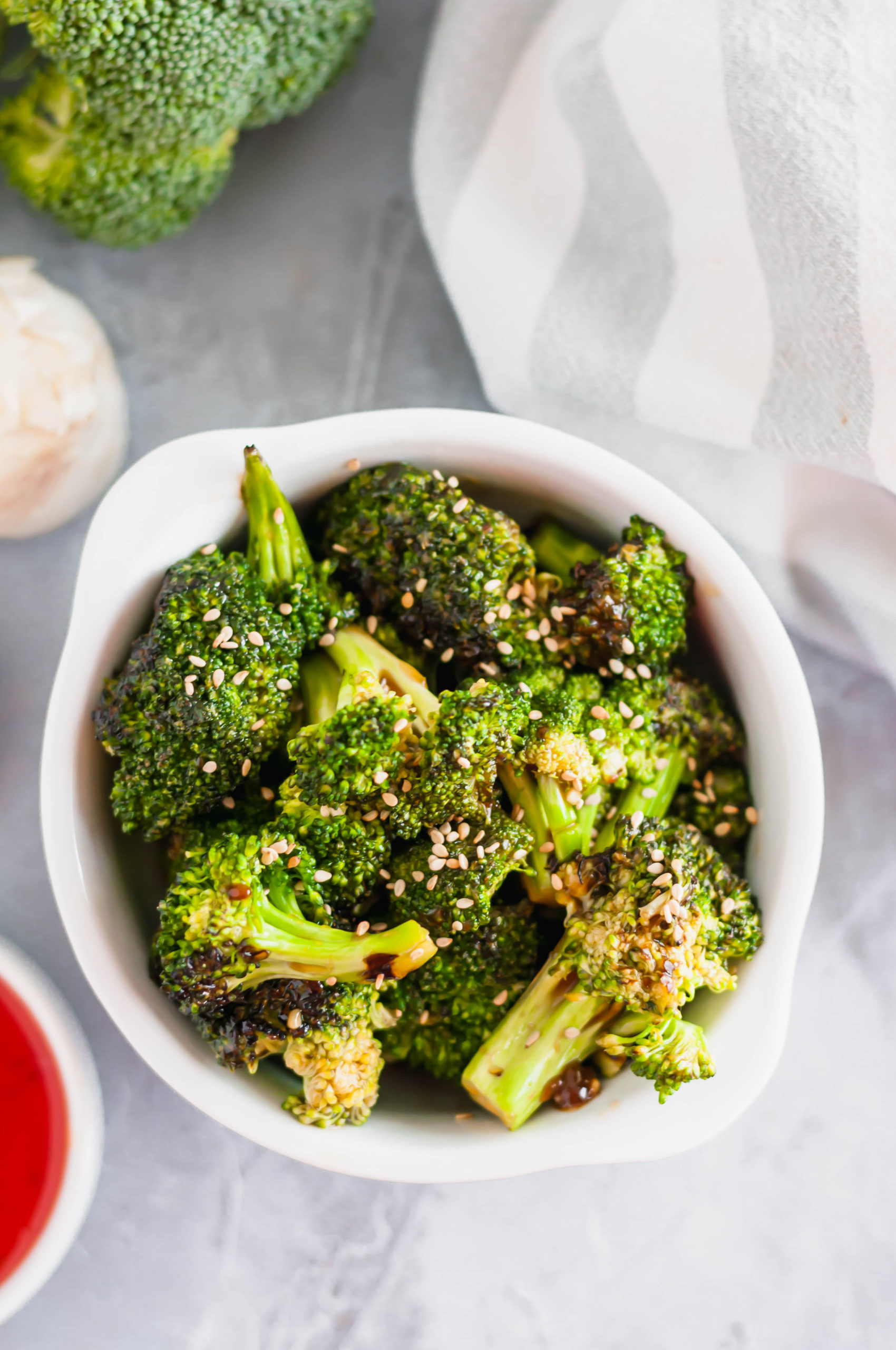 Looking for an easy, super flavorful side dish? This Thai Sweet Chili Broccoli is simple to throw together and super delicious.