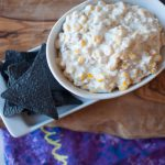 Dips always make a party better and this Bacon and Blue Hot Corn Dip is no exception. Simple to put together and a big crowd pleaser.