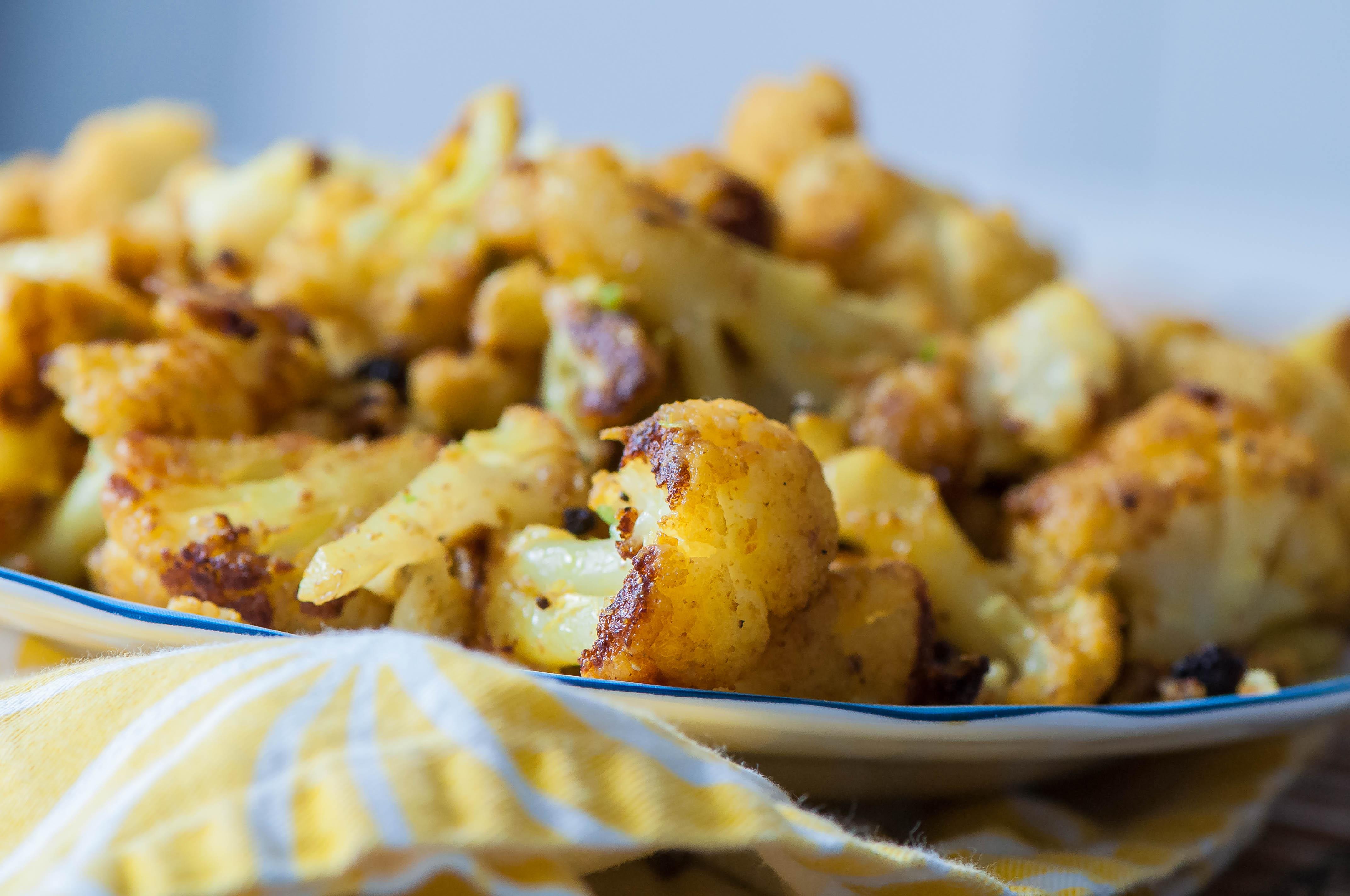 Indian-Style Roasted Cauliflower