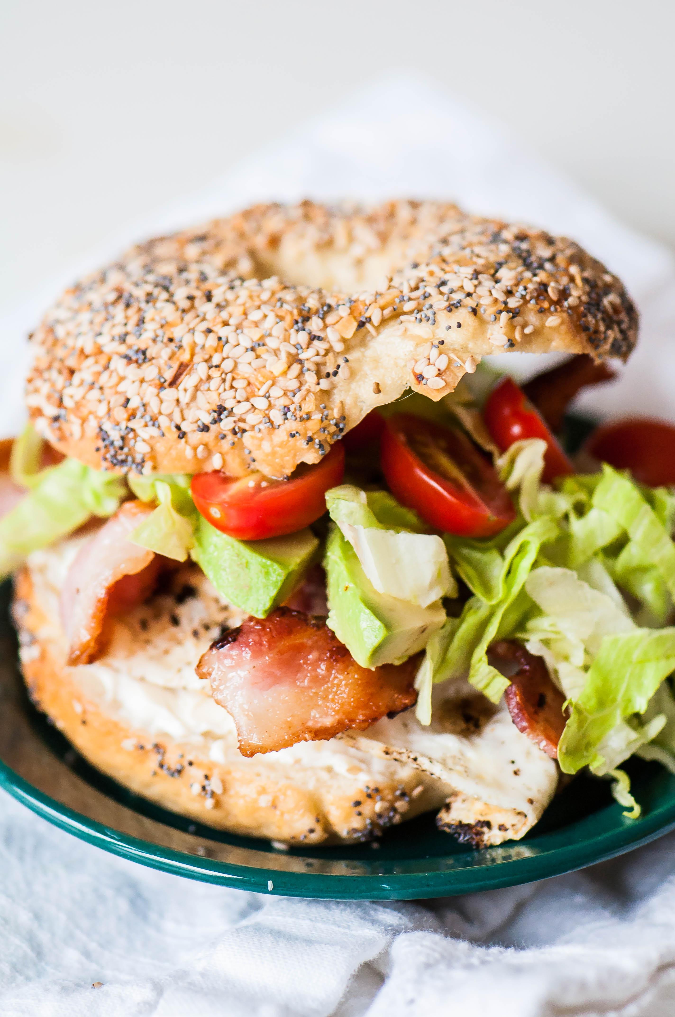 BLT Bagel Sandwiches 2