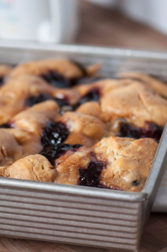 Peanut Butter and Jelly Biscuit Bake