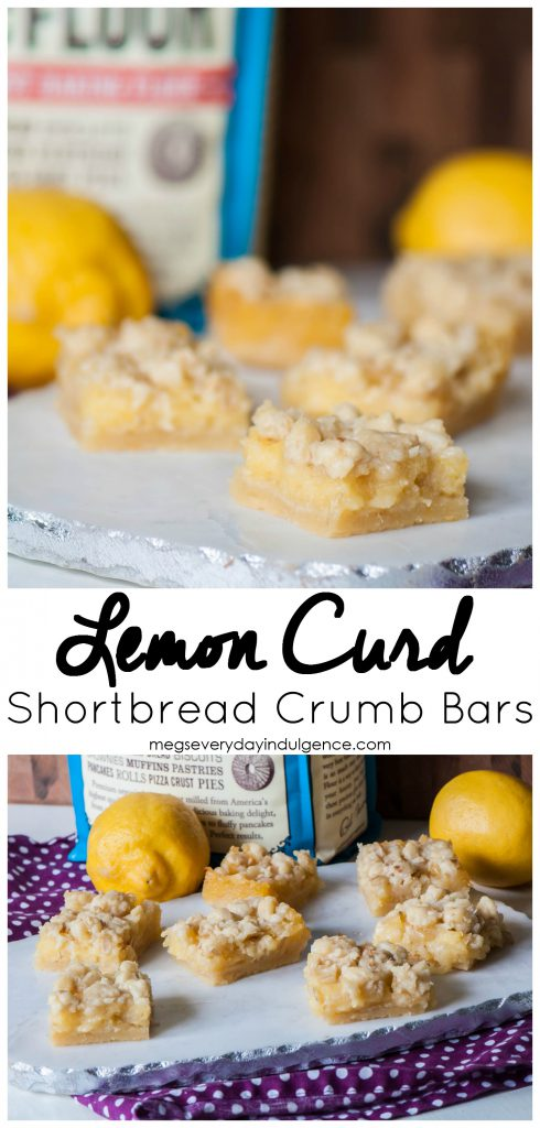 Lemon Curd Shortbread Crumb Bars