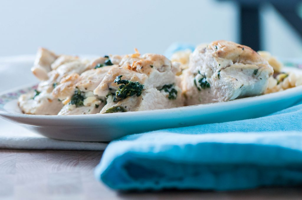Spinach and Feta Stuffed Greek Chicken