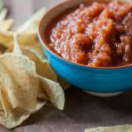 Stop searching for the perfect homemade salsa because I've found it with this Smoky Chipotle Salsa. Simple to make and even easier to eat.