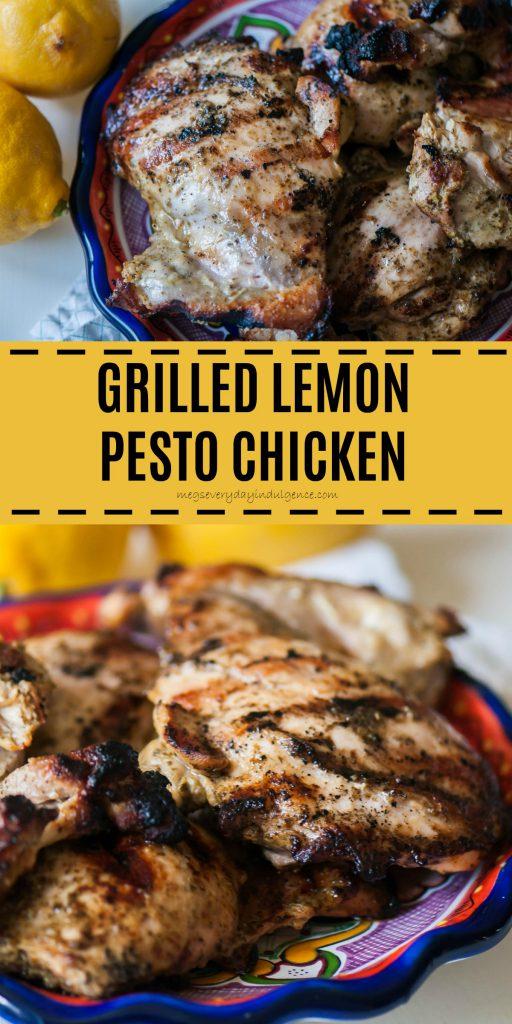 Grilled Lemon Pesto Chicken