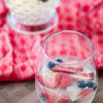Red White and Blue Sangria is the perfect beverage for the 4th of July or memorial day. Simple to make and delicious to drink.