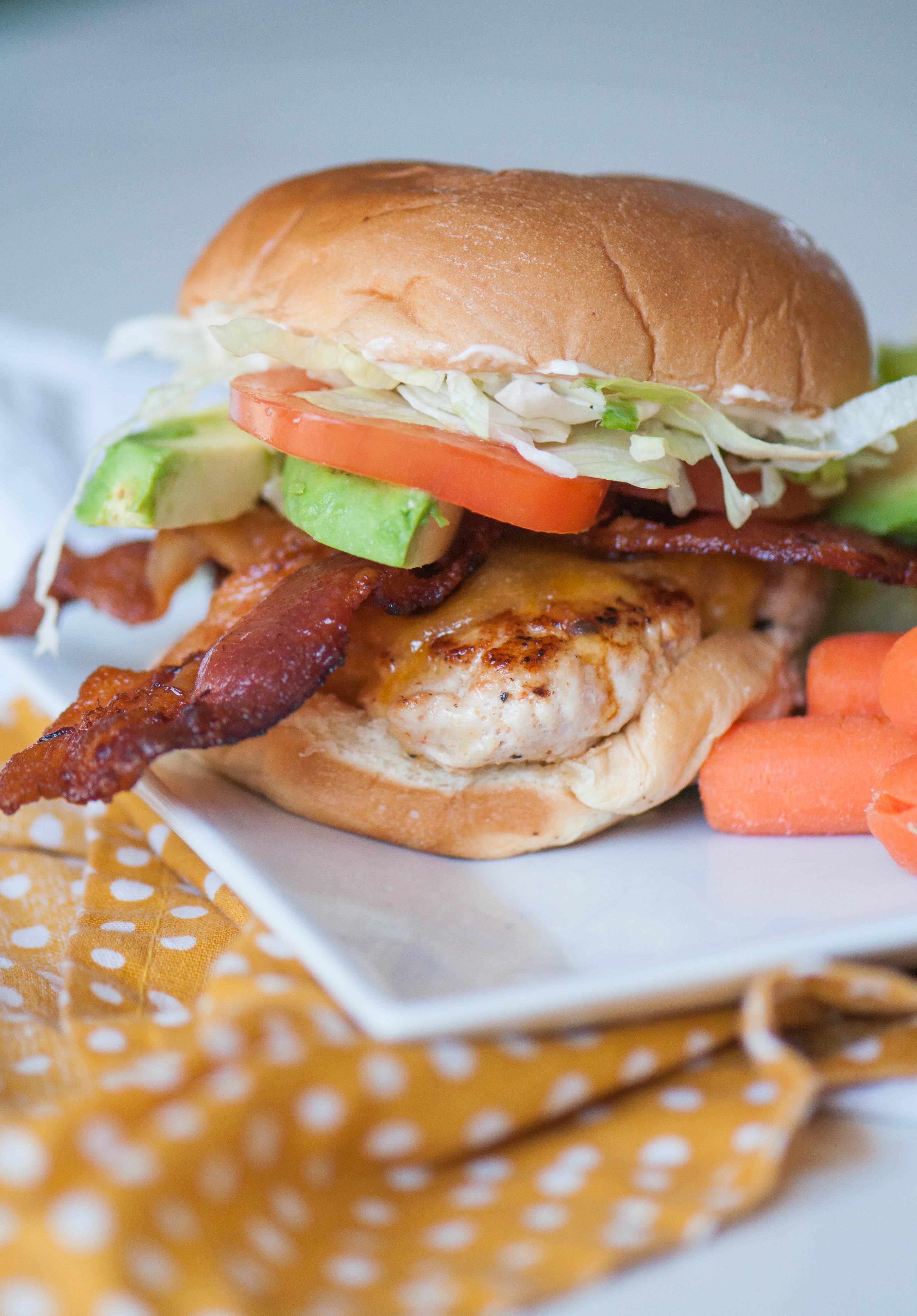 Turkey Club Burger
