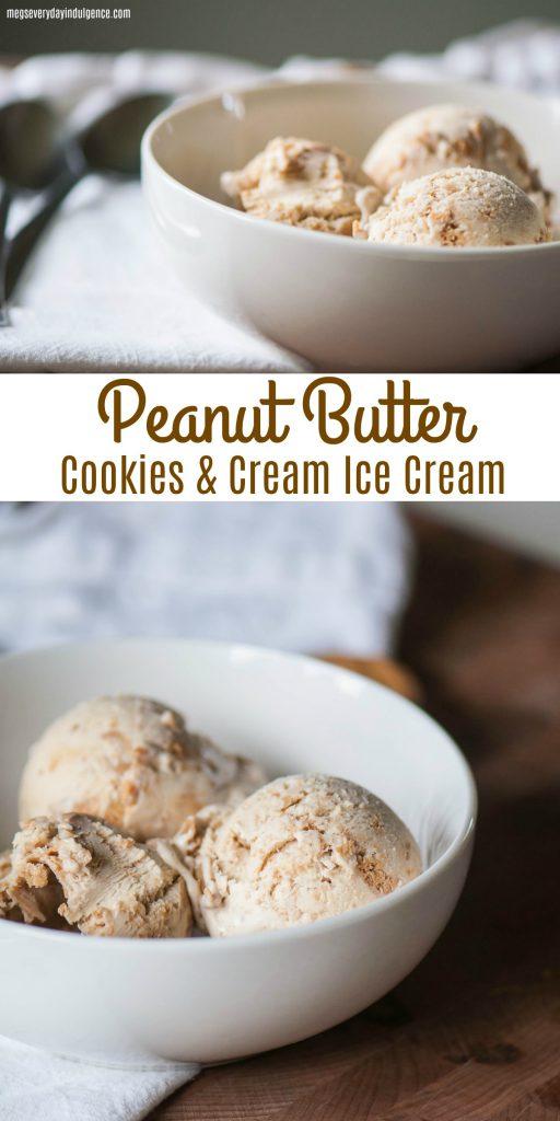 Peanut Butter Cookies and Cream Ice Cream