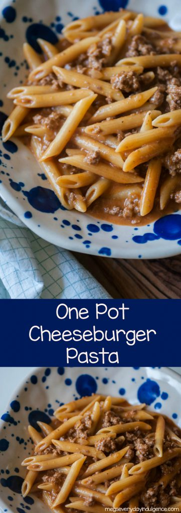 One Pot Cheeseburger Pasta