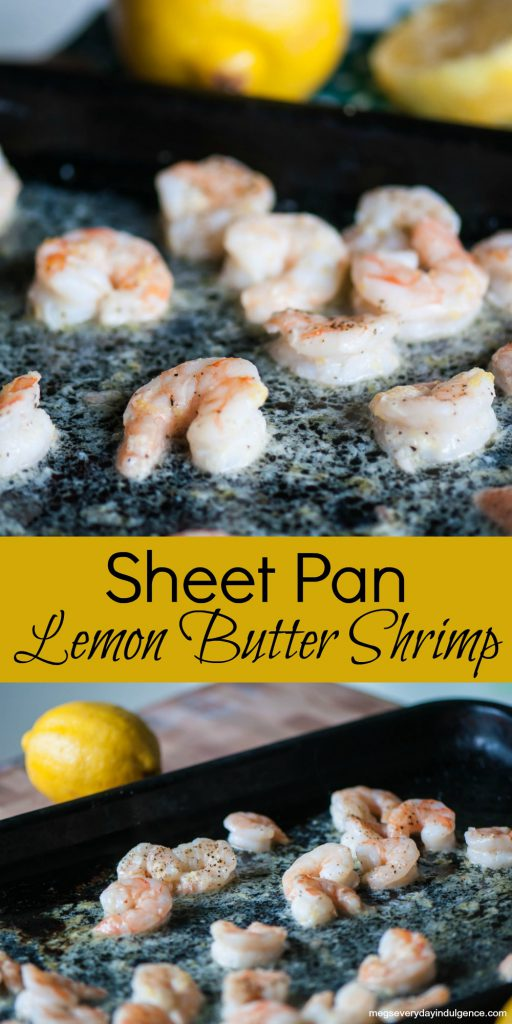 Sheet Pan Lemon Butter Shrimp