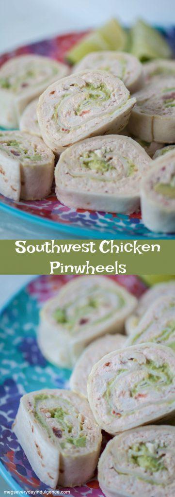 Southwest Chicken Pinwheels