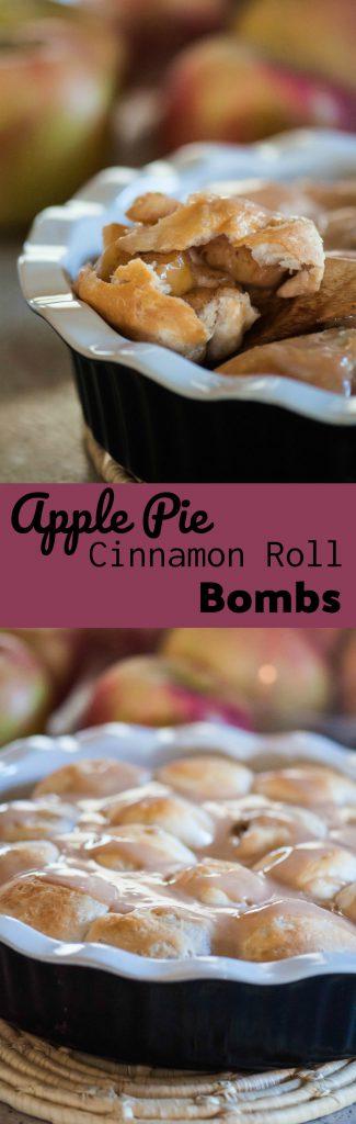 Apple Pie Cinnamon Roll Bombs