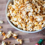 The best part of the Super Bowl is the snacks and appetizers and I've combined two favorites into one with this Buffalo Popcorn. Crunchy, spicy and perfect for snacking during the big game.