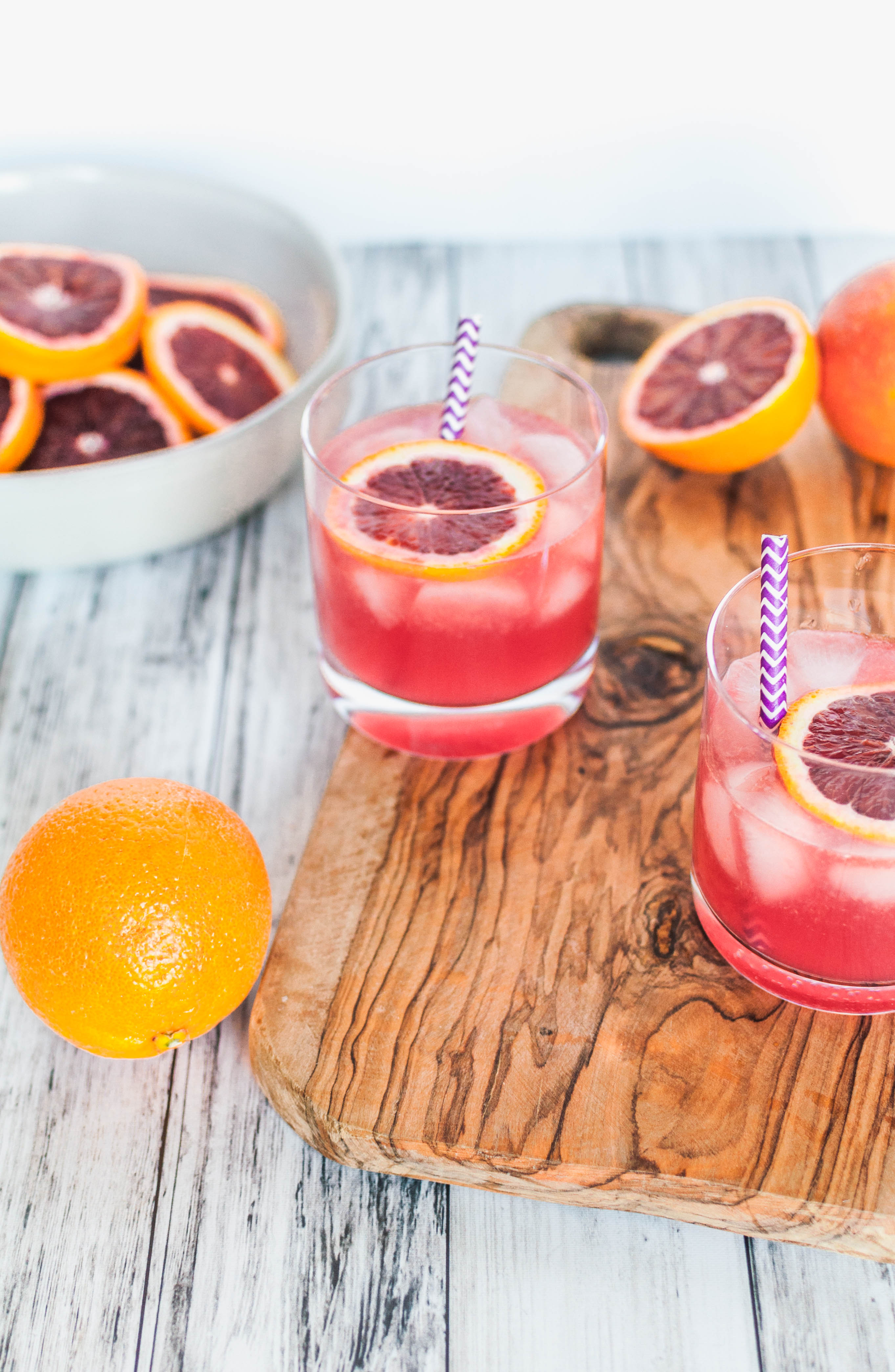 Sparkling Blood Orange Margaritas