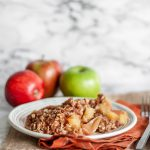 Instant Pot Apple Crisp is the perfect way to start fall. Warm spices, sweet and tart apples and a crumbly crisp topping. All in the Instant Pot without having to heat up the house.