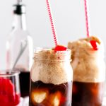 These Cherry Vanilla Coke Floats will make the sweetest dessert this Valentines day. Homemade cherry vanilla syrup, vanilla ice cream and coke.