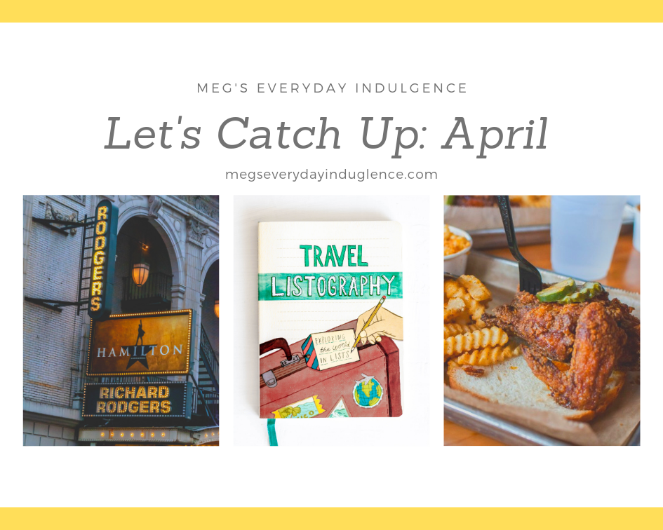 It's time for April's edition of Let's Catch Up. I'm sharing some DIY thoughts, books, recipe favorites and more in today's post.