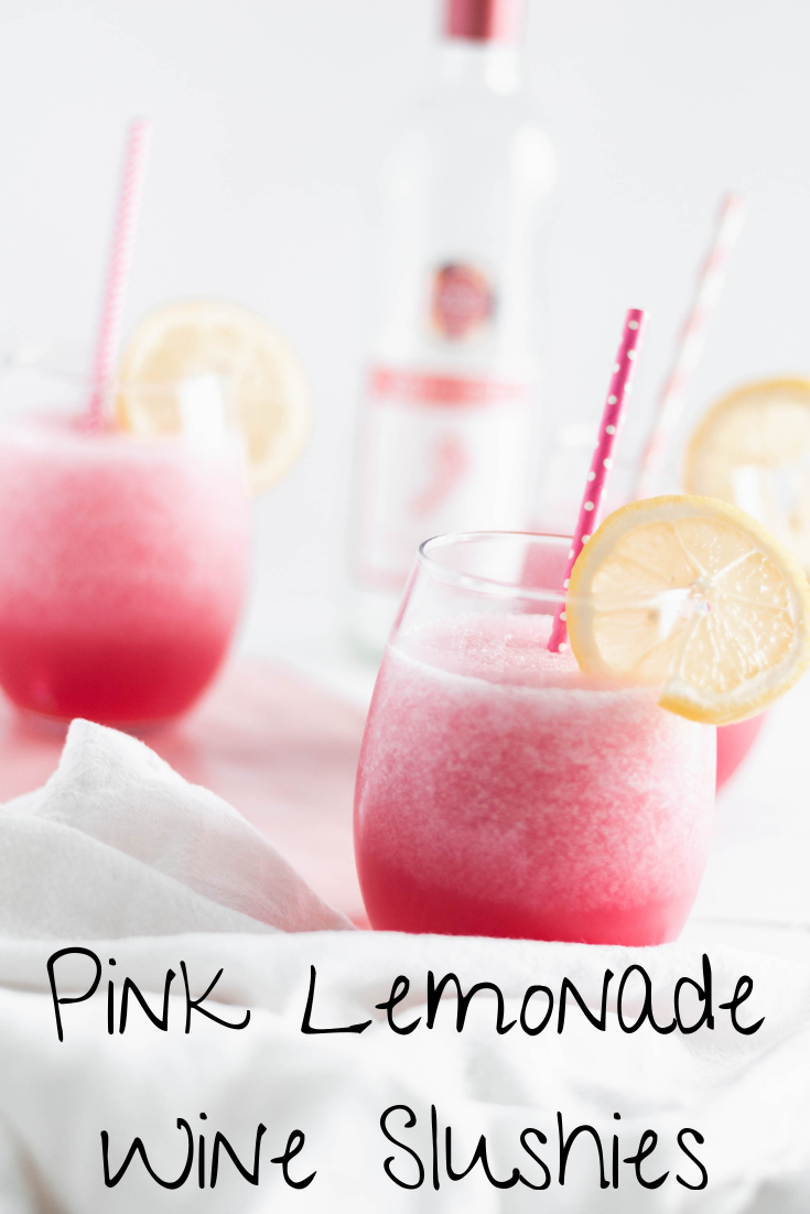 Whip up a batch of Pink Lemonade Wine Slushies for your next girls night or outdoor barbecue. So zippy and refreshing on hot summer days and nights.