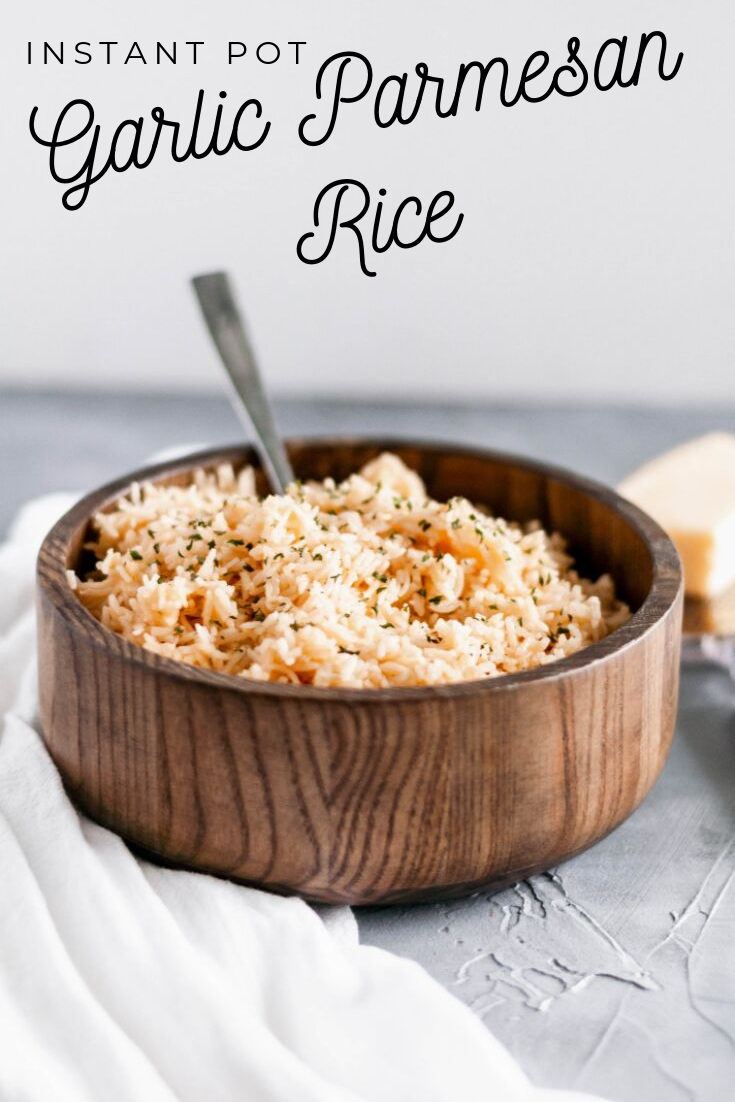 Looking for a quick and simple side dish? This Garlic Parmesan Rice only requires a handful of ingredients and comes together super easily.