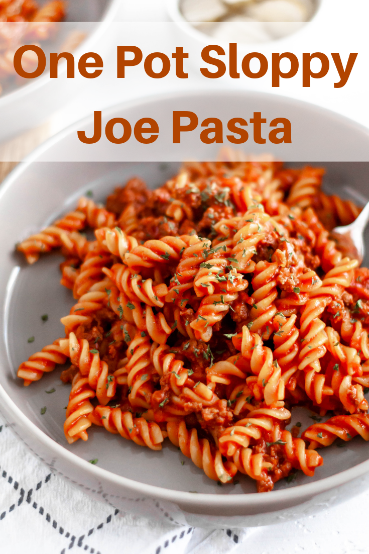 This One Pot Sloppy Joe Pasta is just what you need for your upcoming busy school nights. All in one pot and done in 30 minutes.