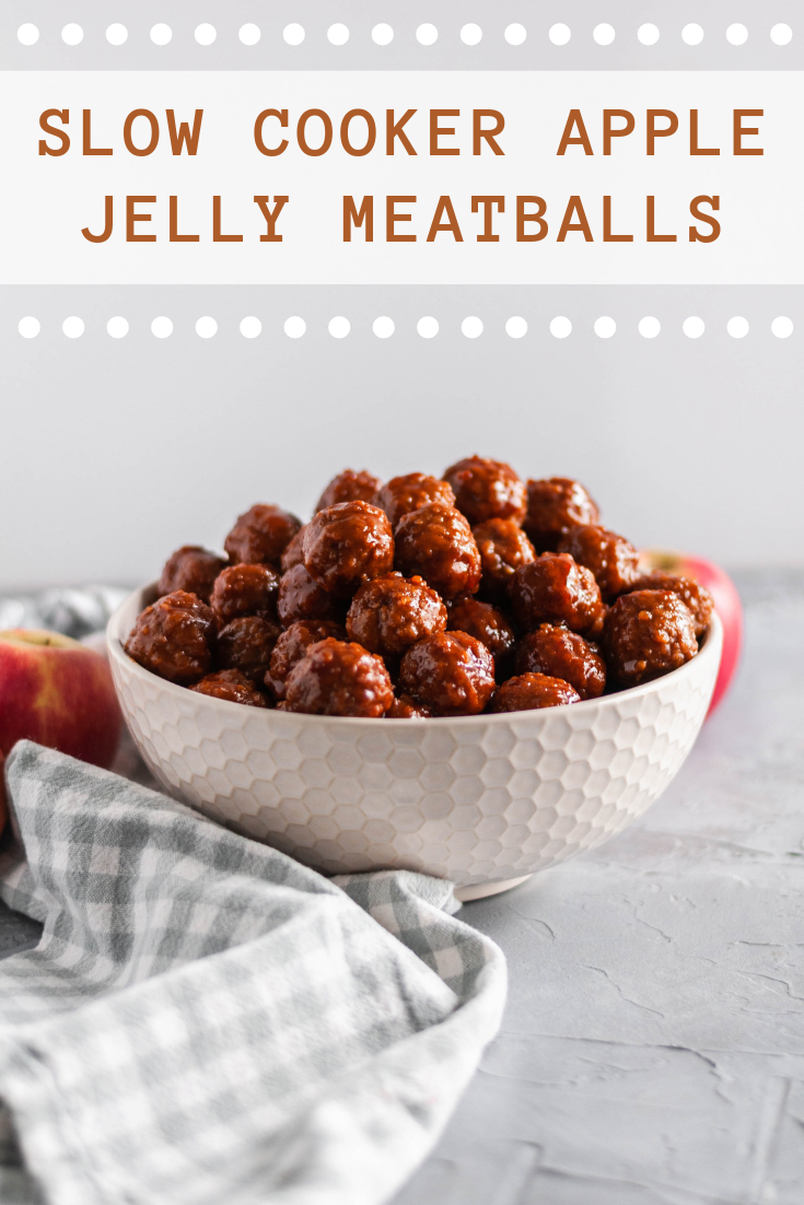 You only need 3 ingredients for these Slow Cooker Apple Jelly Meatballs. They make a great appetizer on game day or serve with rice for dinner.