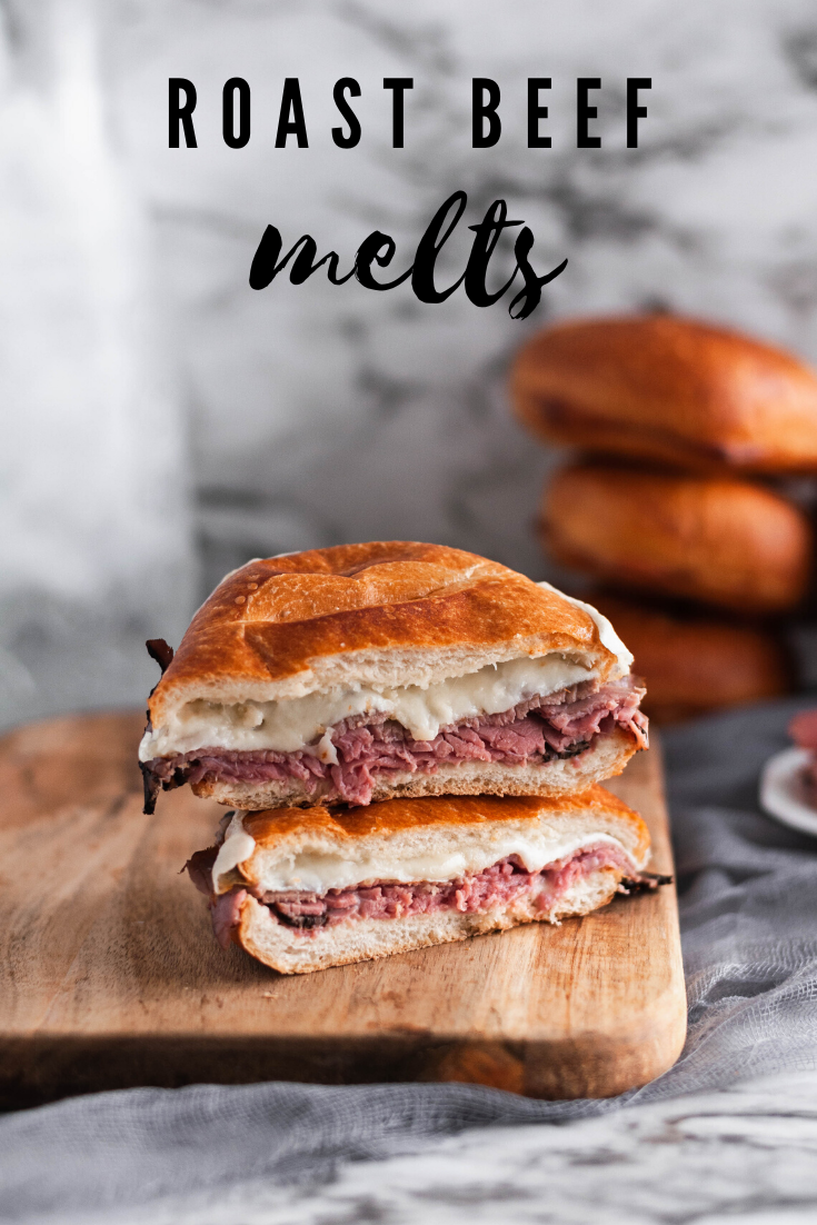 Meet your new favorite 15 minute meal, the Roast Beef Melt. Deli roast beef, melted provolone and horseradish sauce all on a crusty roll and toasted to perfection under the broiler.