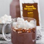 Skip the store-bought mix and make your own Hot Cocoa Mix. Only 5 ingredients and a minute to mix. The creamiest, richest hot cocoa around with a free printable for gifting.