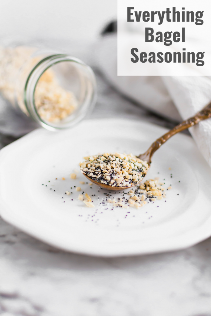 Skip the store-bought and make your own everything bagel seasoning at home. It's simple to make with just a handful of spices. Delicious on chicken, beef, pork, veggies, eggs and more.