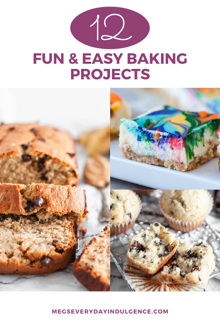 I hope you aren't tired of cooking yet because today I'm bringing a list of fun and easy baking projects that use common ingredients. Let's grab the flour and get to baking.