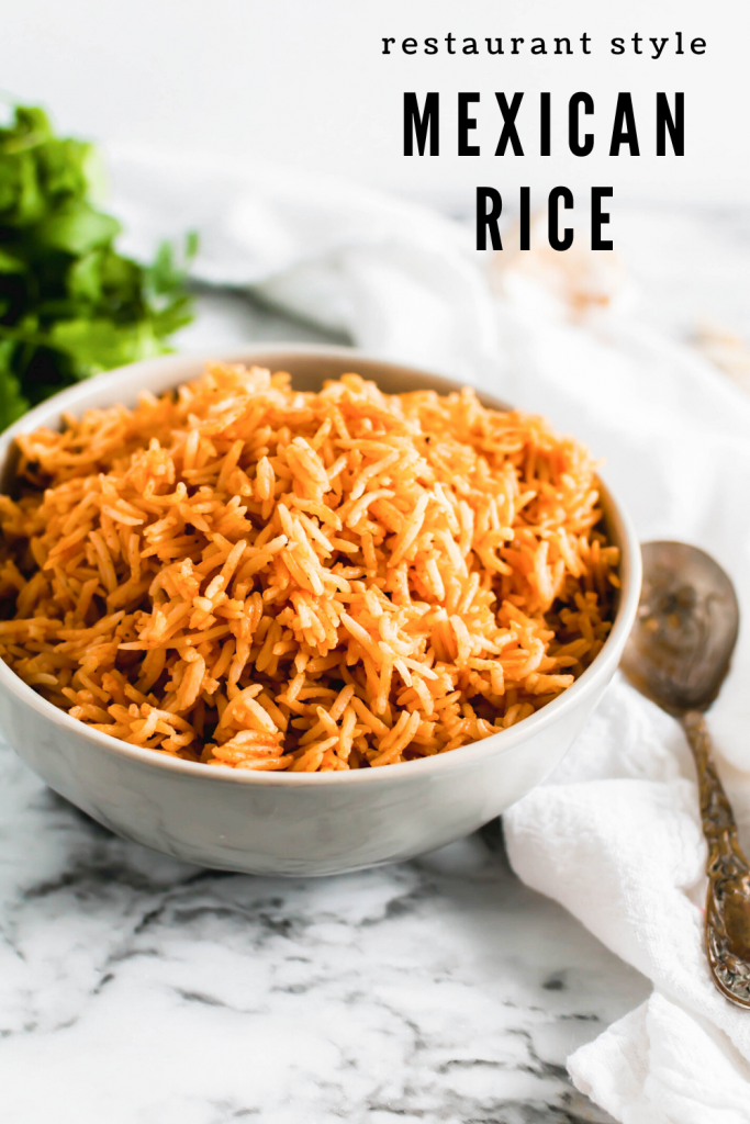 Make the best restaurant style Mexican Rice at home with just a few simple ingredients. It seriously tastes just like the real deal.
