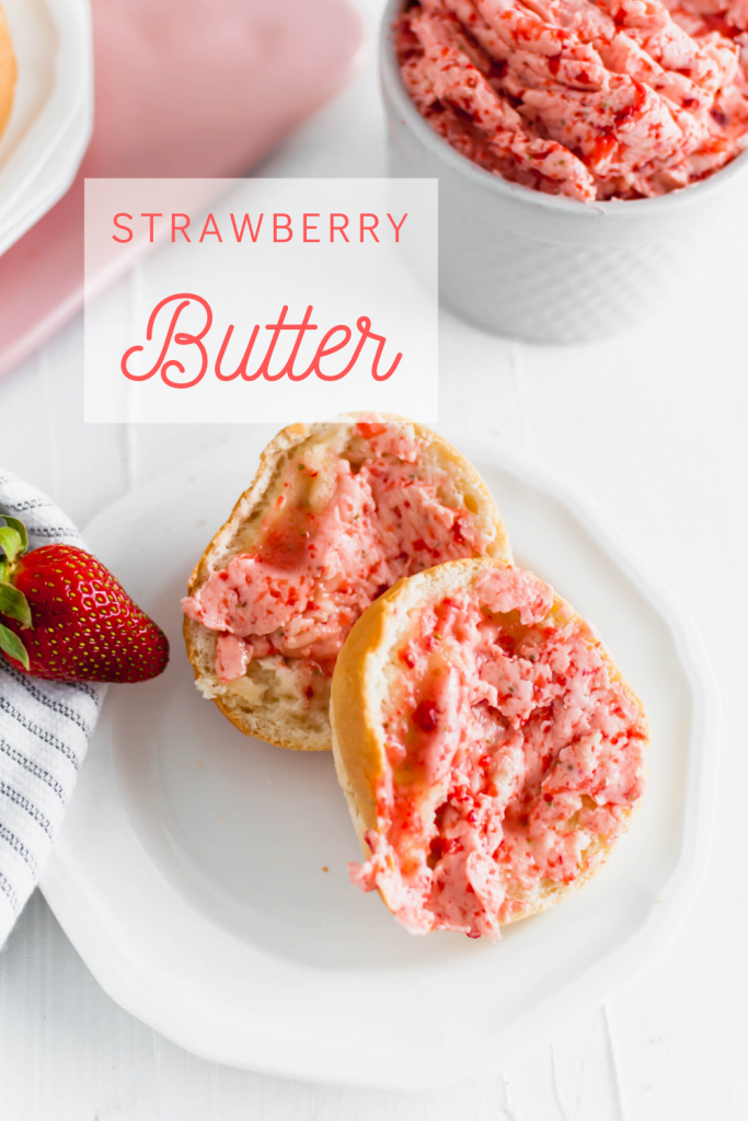 Whip up this sweet and simple strawberry butter for your homemade rolls, biscuits, toast and more. All you need is 3 simple ingredients and a few minutes.