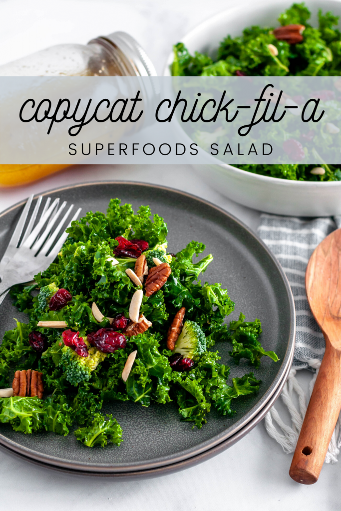 This copycat chick-fil-a superfoods salad is the perfect healthy side dish for dinner, parties or potlucks. Tastes just like the real thing.