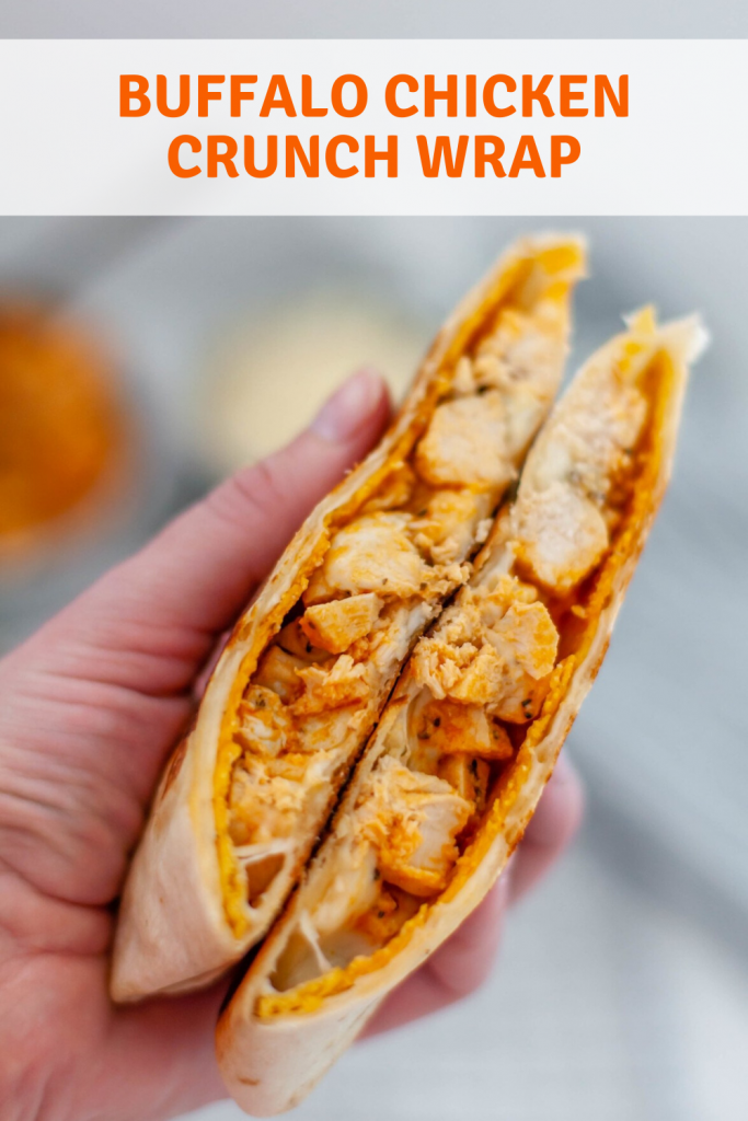 Meet your new favorite craving, Buffalo Chicken Crunch Wraps. Spicy buffalo chicken, mozzarella cheese, blue cheese and a crunchy tostada all wrapped up in a large flour tortilla and cooked to crispy, melted perfection.