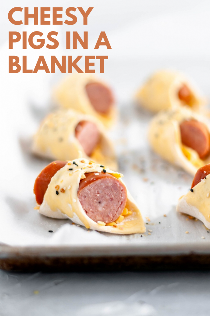 It's almost football season and that means it's time for all the football food and appetizer. Start the game day with these Cheesy Pigs in a Blanket.