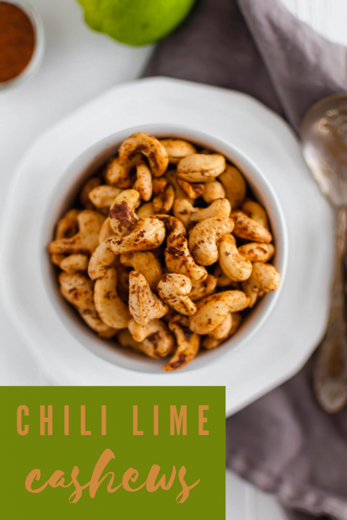 These Chili Lime Cashews are a flavor packed snack that will quickly become your new addiction. Simple to make with just a handful of ingredients.