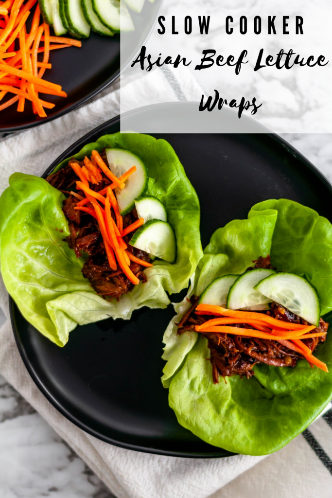 If you're looking for a simple, healthy weeknight dinner look no further than these Slow Cooker Asian Beef Lettuce Wraps. Chuck roast and a few simple Asian ingredients transform into tender, saucy shredded beef perfect for piling in lettuce wraps.