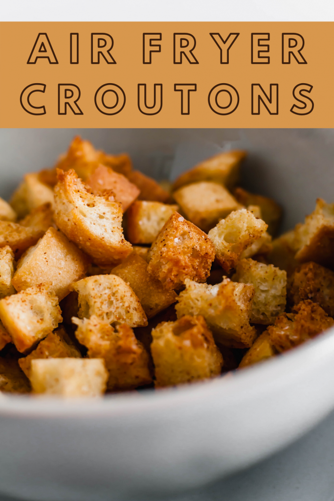 Making your own croutons has never been easier. Grab some stale bread and you'll have perfectly crispy Air Fryer Croutons in minutes.
