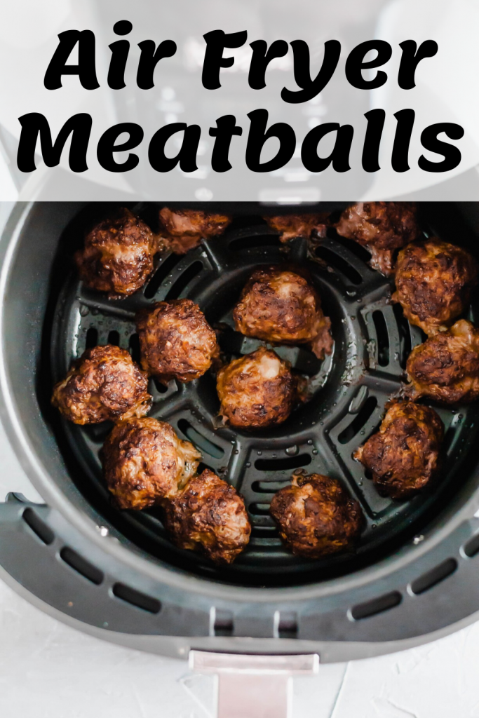 These Air Fryer Meatballs are the crispiest, juiciest meatballs ever. Super simple to make and done in minutes making a great option for weeknight meals.