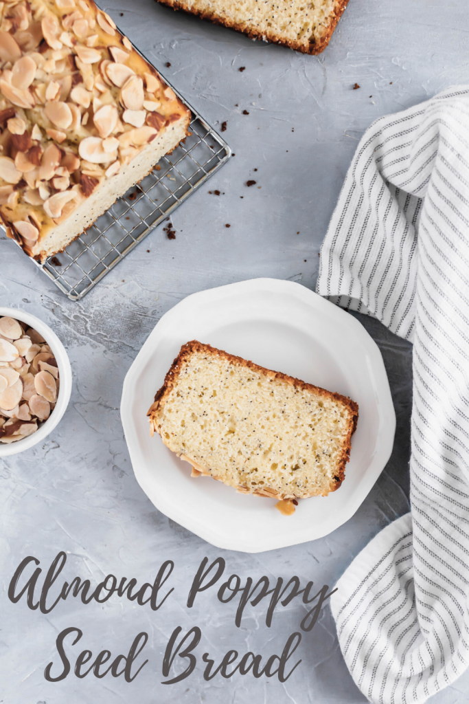 This sweet Almond Poppy Seed Bread is an easy, delicious treat to whip up when your sweet tooth strikes. Perfect for breakfast, brunch, snacks and dessert.