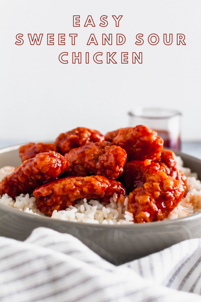 Skip the takeout tonight and make this Easy Sweet and Sour Chicken instead. A shortcut ingredient makes this dish super easy for any night of the week.