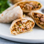 Thai Chicken Wraps will become your new summer go to meal. They are simple to make, packed with flavor and perfectly light.