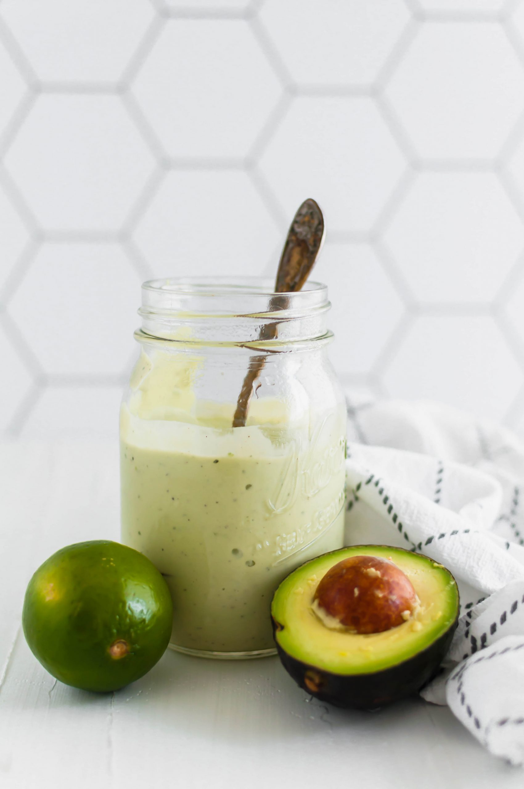 This Copycat Chick-fil-A Avocado Lime Ranch tastes just like the real deal. It's simple to make with a small handful of ingredients that are easy to pick up from the store. Bright, fresh and totally delicious on all your summer salads.