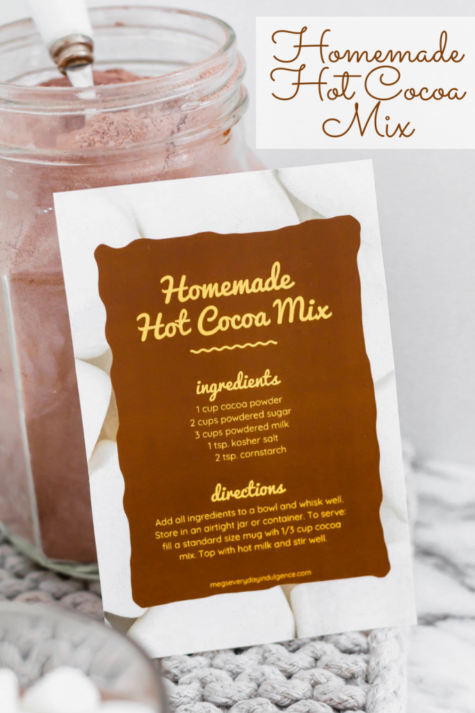 Get ready for the creamiest, richest hot cocoa of your life. Keep this super simple hot cocoa mix on hand all winter to warm up or to give as a gift.