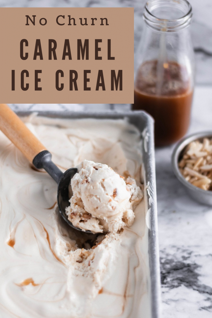 Craving some homemade ice cream but don't have an ice cream maker? No worries, this No Churn Caramel Ice Cream is simple to make with just a handful of simple ingredients. Super rich and creamy.