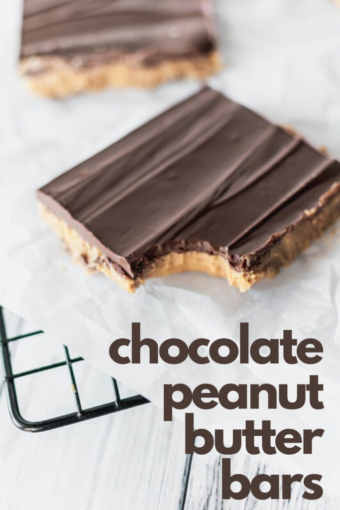 Chocolate Peanut Butter Bars are one of the easiest and most delicious desserts around. Just a handful of ingredients and you're on you way to dessert bliss.