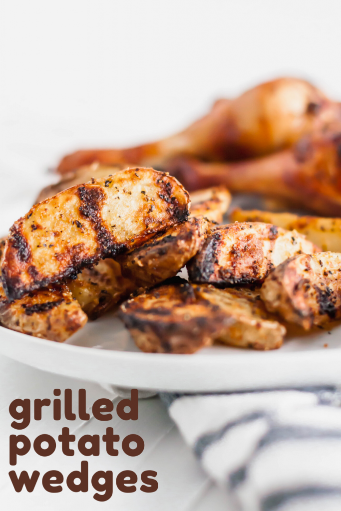 Grilled Potato Wedges are the perfect summer side dish. Done in less than 30 minutes and packed with chargrilled flavor. Great with burgers and chicken.