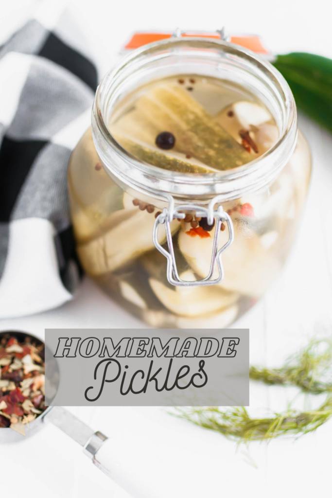 Homemade pickles are super simple to make with just a few ingredients. These taste just like the favorite Claussen's.