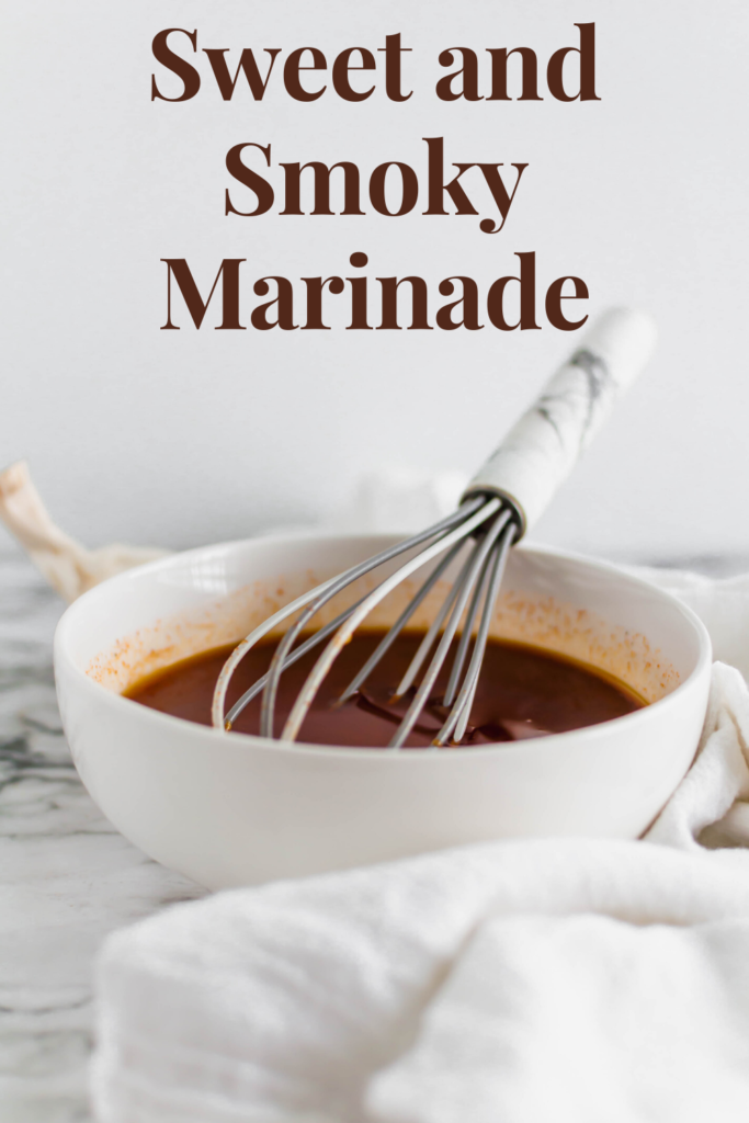 This Sweet and Smoky Marinade is perfect all summer long. Common ingredients, easy preparation and tons of flavor. Great on chicken, pork and beef.